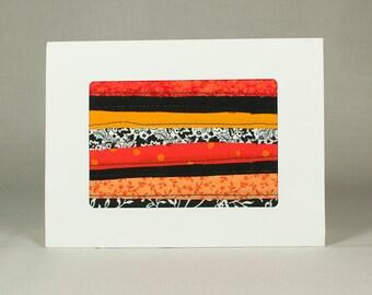 Halloween Stripes Greeting Card - Orange and Black - SF Giants - San Francisco