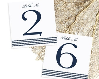 Nautical Rope Detail Table Numbers