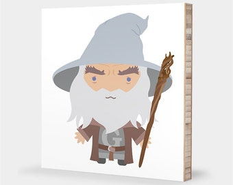 Lord of the Rings | Gandalf, Wizard - Alphabet art, Kids gift, LOTR Nursery wall art, Baby shower gift, LOTR baby decor, Kids wall art