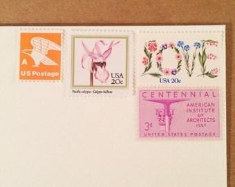 Posts 8 Letters - Love and Orange Eagles- Unused vintage postage stamp set to post 8 letters.