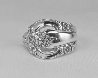 Spoon ring handmade in Silver Artistry pattern, circa 1965