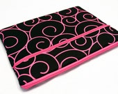 Fabric iPad Air 2 Sleeve, iPad 4 3 2 1, iPad mini 3 2, Kindle Fire HDX 8.9 7, Pro Surface 3 2 Sleeve, Galaxy 10.1 7, Nexus 10 7-Pink Swirls