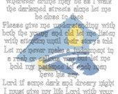 Police Officer Prayer counted  Cross Stitch Pattern