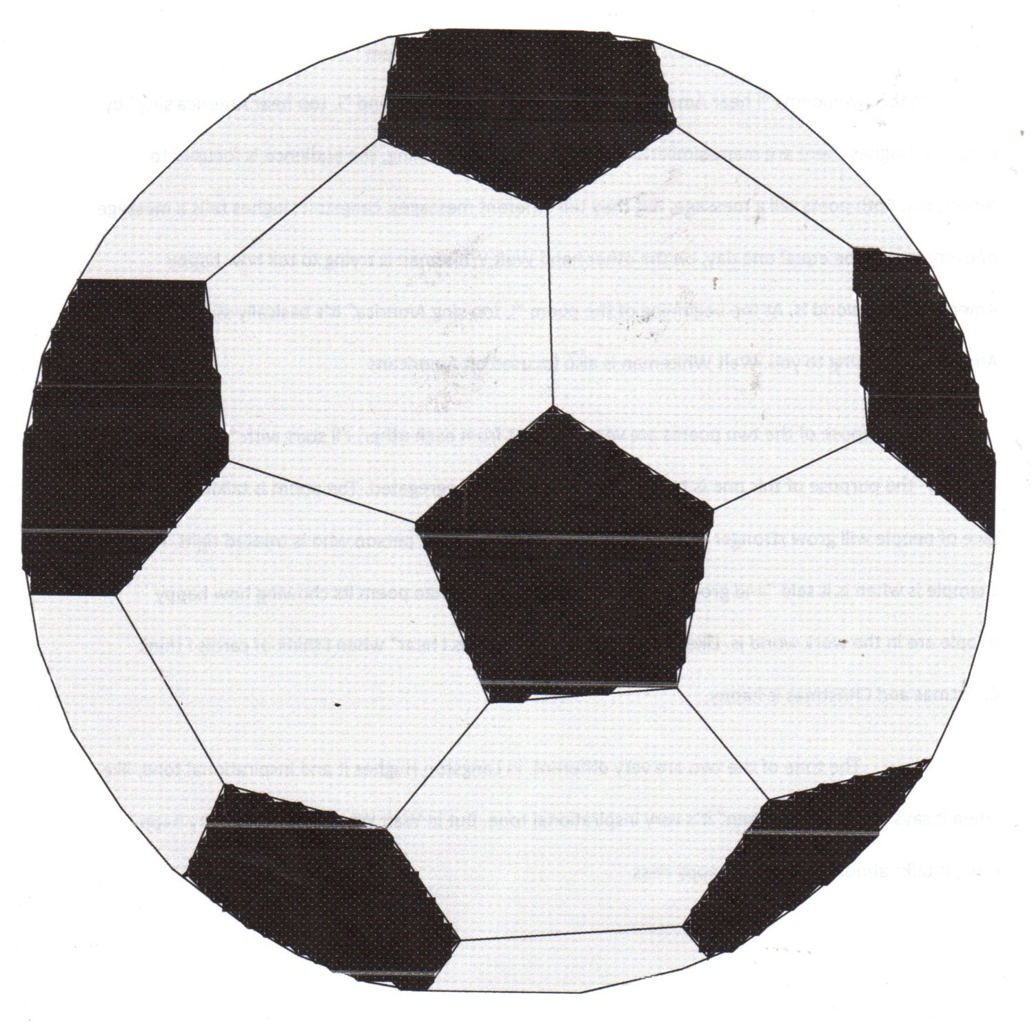 Soccer Ball Cross Stitch Pattern