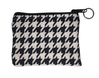 Houndstooth Coin Bag