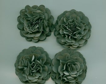 Grey Carnation Paper Flowers for Weddings, Bouquets, Events and Crafts