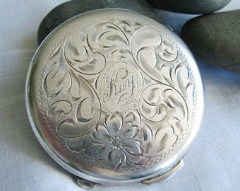 Vintage Sterling Silver Powder Compact by Birks of Canada
