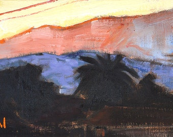 Santa Barbara Sunset Landscape Painting
