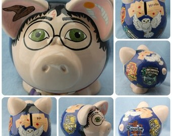 Medium Ceramic Piggy Bank Any Character or Theme (Made to Order)