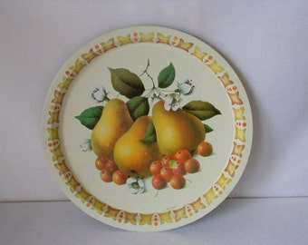 Vintage Tin Serving Tray Made in England