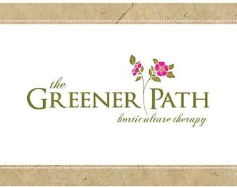 Custom PreMade Logo Design - PreDesigned Logo - Custom Vector Logo Design - GREENER PATH Logo - Flower Logo - Gardening Logo - Classic Logo