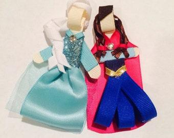 Disney frozen inspired Anna and Elsa hair clip or headband