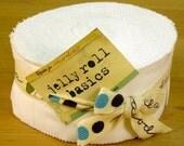 Moda Bella Solids White Jelly Roll - (40) 2.5 inch strips