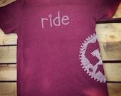 RIDE  - Tshirt Cardinal