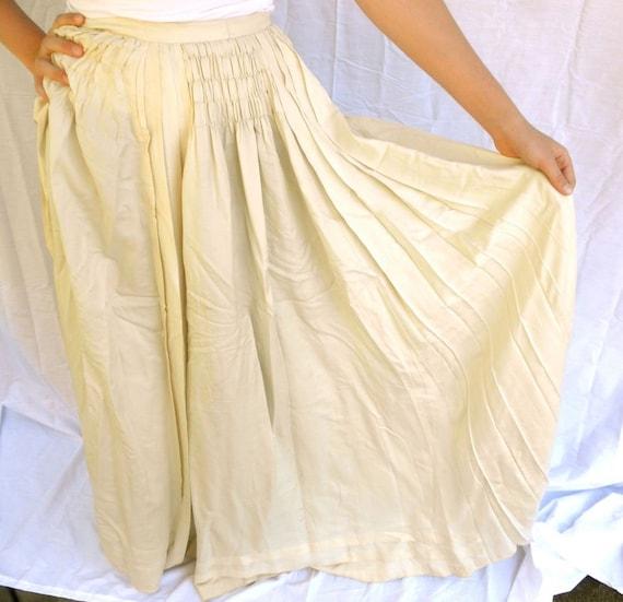 Ivory Silk Skirt 84