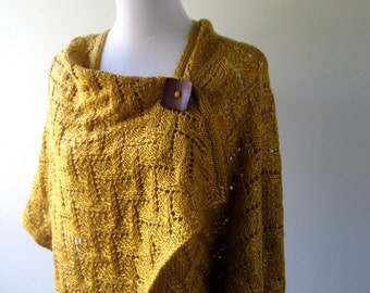 Hand Knit Shawl / Wrap/ Poncho MADE TO ORDER