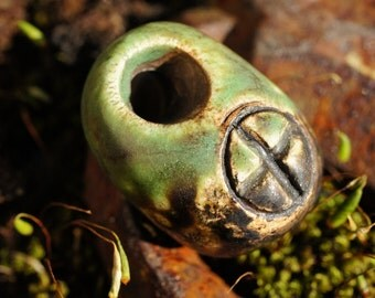 Elemental EARTH Hag Stone Pendant - A Supply from the Gnoom Forest
