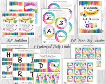 Painting Party Decorations, *FEATURED on Amy Atlas Sweet Designs*, Printable Party By Cutie Putti Paperie