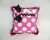 Tooth Fairy Pillow for Girls Pink and White Polka Dot Minnie Mouse Inspired - Valentine's Day Gift