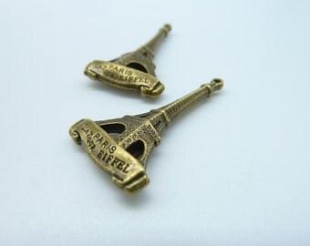 10pcs 5x18x32mm Antique Bronze Heavy 3D Eiffel Tower Charm Pendant c2083