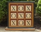 Primitive Wood Tic Tac Toe Game Board Folk Art Gameboard