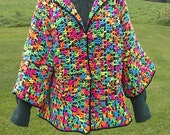 Crochet Jacket Sweater Granny Square