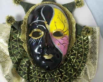 Vintage 1992 Mardi Gras Mask, Anco, Mardi Gras, Jester