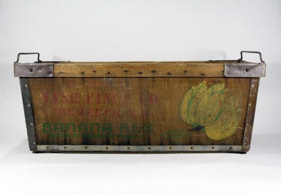 Reserved For Daniel Vintage Banana Crate Vintage Banana Box