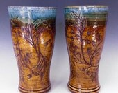 A Pair of Oak Leaf Tumblers
