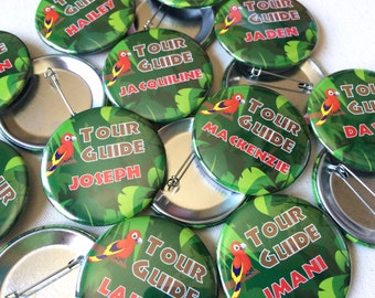 2.25 Inch Custom Button Pins or Magnets. Set of 50. VBS Keepsakes. Wedding Favors. Party Favors. Guest Mementos. Pinback Badges.