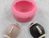 Football  Silicone Mold Cupcake Topper, Chocolate, Resin, Polymer Clay, Wax, Candy (344)