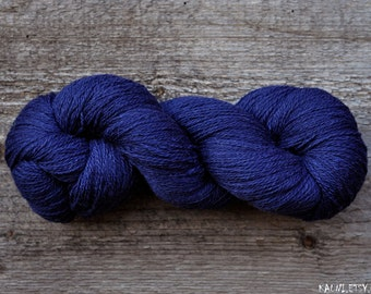 100% Wool Yarn , Deep Blue, 3ply, Mega-Yardage