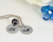 Initial Necklace, Personalized Jewelry  Personalized Necklace,  Monogram Necklace, Monogrammed Gift, Celebrity Inspire