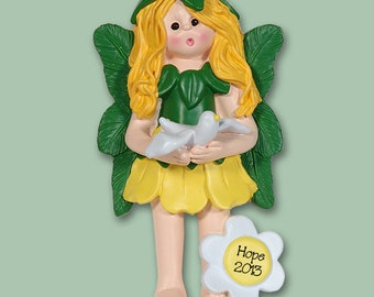 Hope the Forest FAIRY Hand Pinted RESIN Personalized Christmas Ornament