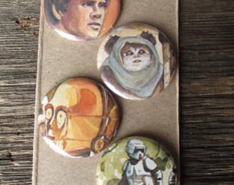 Star Wars magnets.  Set of 4