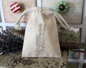 10 Cotton Drawstring Muslin Favor Bags - Lavender