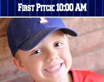 Baseball Ticket Birthday Invitation