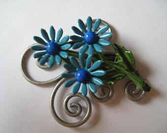 Enamel Flower Pendant