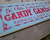 Olde Fashioned Candy Canes Christmas wooden sign by Dressingroom5