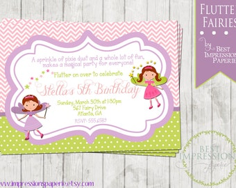 Flutter Fairies - A Customizable Birthday Party Invitation