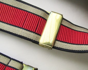 1950s-60s Red and Tan MOD Suspenders