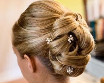 Bridal hair accessory, Wedding hair pins, Pearl/Rhinestone hair pins, Wedding hair accessory, SET OF 6,Bridal hair pins,Bridesmaid hair pins