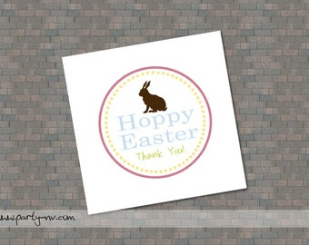 "PRINTABLE (2"" Favor Tags) - Hoppy Easter Collection"