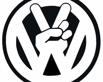 VW Peace Vinyl Decal F05