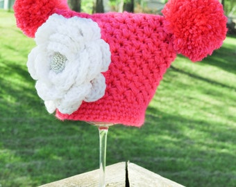 Baby crochet Jester hat. Sizes preemie-3 years old. Made to order custom color.