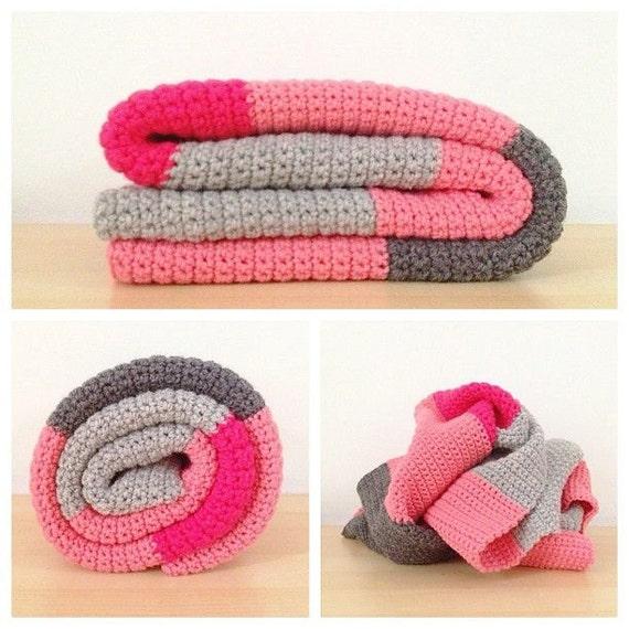Einfache H?kelmuster Baby Decke Colour-Blocking