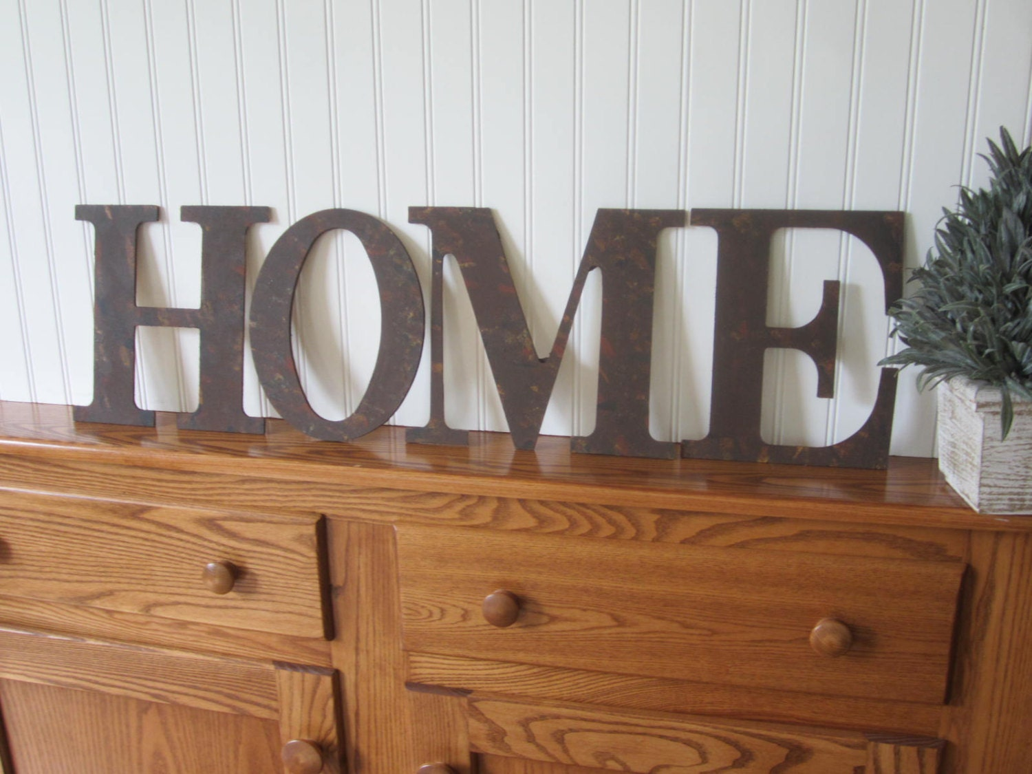 Vintage Style Home Sign Rusty Metal Letters Home Home Sign