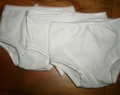 3 pair of white cotton knit panties for 18 inch american girl doll