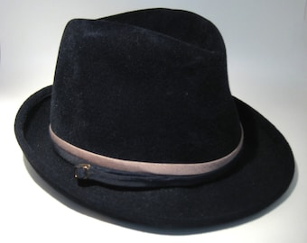 Black Fedora - Gene Doris New York - Size 23
