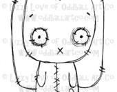 Digi Stamp Digital Instant Download Big Eye Floppy Eared Bunny Image No. 33 by Lizzy Love